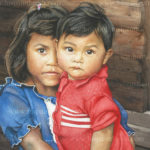 """Little Mother"" - Watercolor by Michele E. Struss. Prints & notecards available at www.hispaintbrush.com"